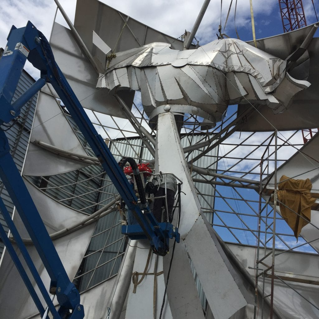 Dignity Statue Construction