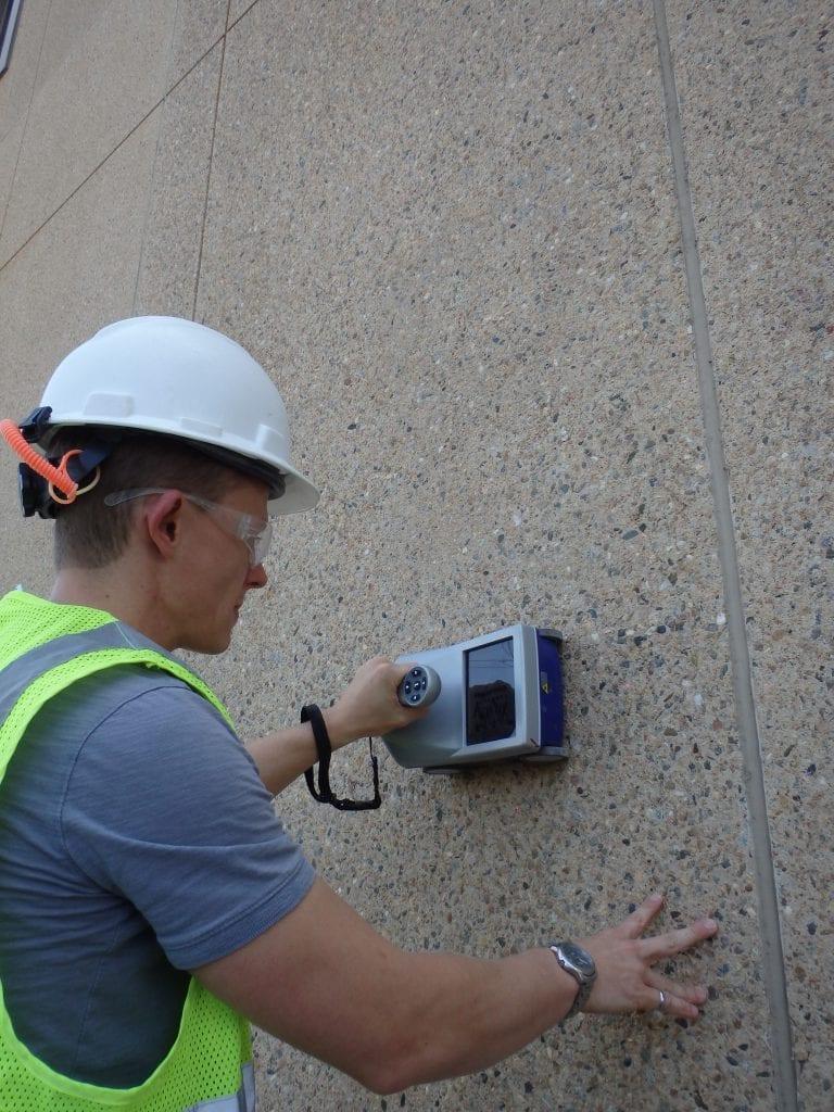 Engineer Testing Wall